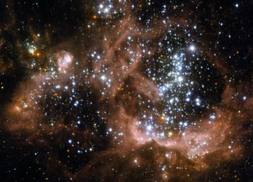 Región NGC 604 en la galaxia M33.