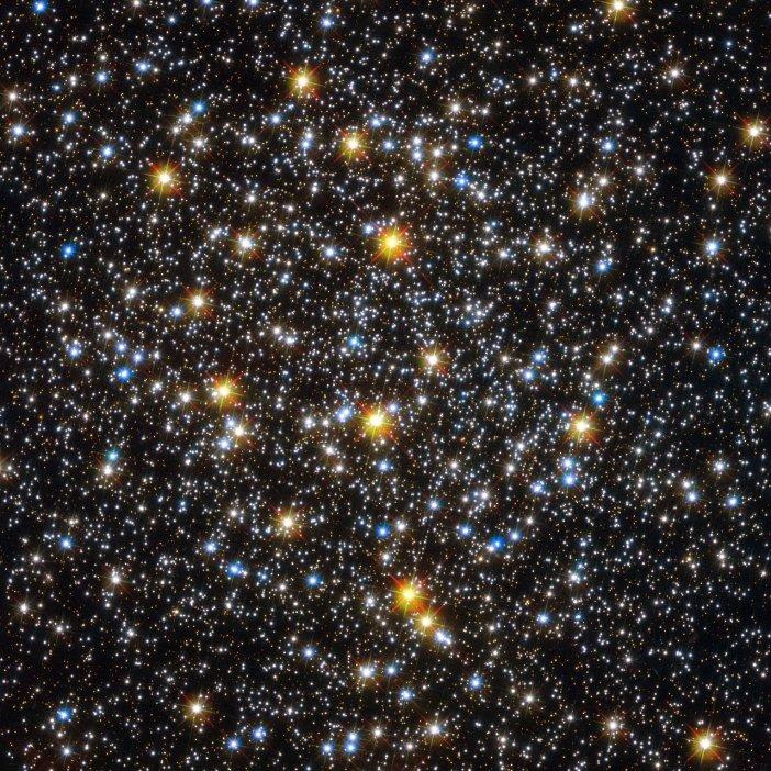 Corazón del cúmulo globular NGC 6362 tomado por el Telescopio Espacial Hubble. La imagen forma parte de nuestra galería.