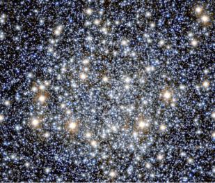 Región central del cúmulo Messier 55